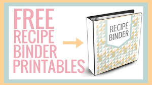 Free Printable Binder Templates Free Recipe Binder Printables I Scream For Buttercream