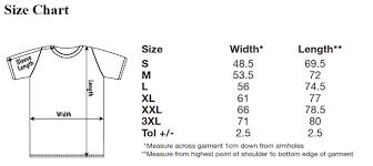 Fruit And Loom Size Chart T Shirt World Strike Club