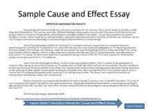 sample cause and effect essays nursing dissertation topics cause and effect essay on teenage pregnancy meaning of friendship