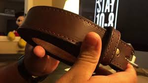 the most popular belt on unfortunately i don t know why it is heavier than the saddleback leather lower quality has wider spacing for the