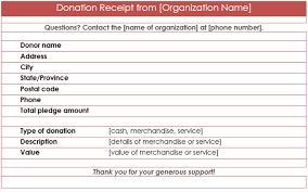 Donation Receipt Template Microsoft Word Mrstefanik Info