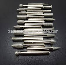 dremel diamond bits. sintered diamond stone burr bits for engraving etching dremel rotary