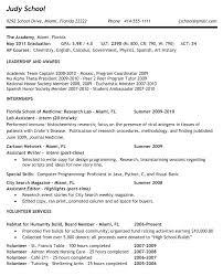 Sample Resume For High School Senior High School Graduate Resume ...