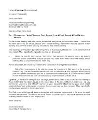 Verbal Warning Sample Verbal Warning Letter Template Tailoredswift Co