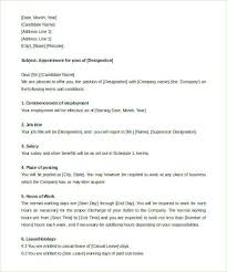Appointment Letter Sample In Word Format India Copy Appointment