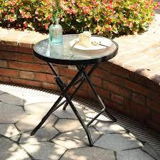 patio small side little folding glass