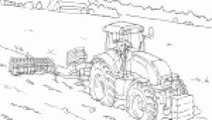 Tekening Tractor Geïnspireerd Kleurplaat Trekker Met Grasmaaier