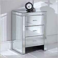 Mirrorred furniture Full Length Bedside Tables Horchow Mirrored Furniture And Mirrored Bedroom Furniture