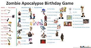 Zombie Apocalypse Birthday Game by miguelmymusic - Meme Center via Relatably.com