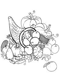 Small Picture Free Cornucopia Coloring Page