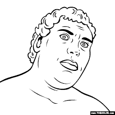 Andre The Giant Coloring Page Andre The Giant Coloring