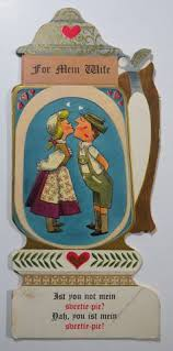 vintage, hallmark 1950's 60's german wedding anniversary card Wedding Greetings In German vtg happy anniversary to wife hallmark greeting card german beer stein in collectibles, paper, vintage greeting cards, other vintage greeting cards wedding greetings german