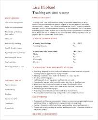 cv teaching assistant teacher resume sample 28 free word pdf documents download