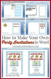 How To Create Invitations On Word How To Create A Monogram In Word Diy Make Birthday