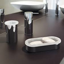 Decorative Accessories For Bathrooms Modern Bath Accessories With Frosted Glass Chrome Bathroom Pack 68