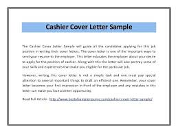 Brilliant Ideas Of Cover Letter Examples For Cashier Job Perfect