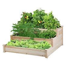 yaheetech 3 tier raised garden bed