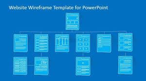 Website Wireframe Template Enchanting Website Sitemap PowerPoint Template SlideModel