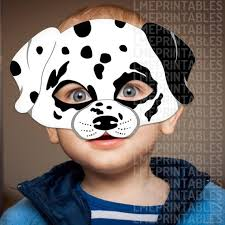 Mask Templates For Adults Delectable Dalmatian Dog Mask Printable Animal Childrens Halloween Masks Etsy