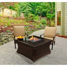 mendocino square height fire pit brown handwoven