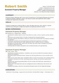 Assistant Property Manager Resume Template Fascinating Assistant Property Manager Resume Samples QwikResume