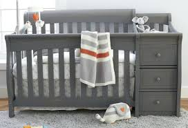 grey baby cribs elite 4 in 1 convertible crib and changer weathered grey grey baby crib