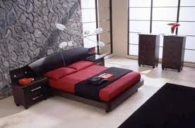 modern bedroom black and red. Fine Modern Modern And Glamors Black Red Bedroom And