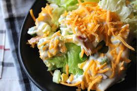 Spread evenly in prepared dish. Classic 7 Layer Salad Recipe My Farmhouse Table