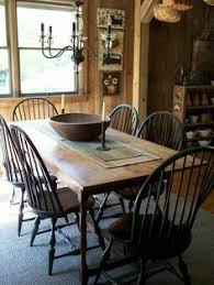 rustic and primitive style farm table and chairs
