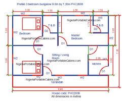 home 3 bedroom flat design plan in nigeria