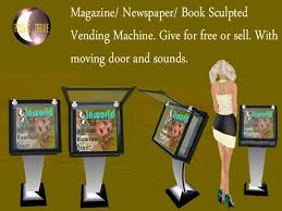 Magazine Vending Machine Custom Second Life Marketplace Sculpt Magazine Vending Machine