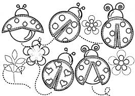 Small Picture Cute Ladybug Coloring Pages Free Here