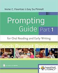 Amazon Com Fountas Pinnell Prompting Guide Part 1 For