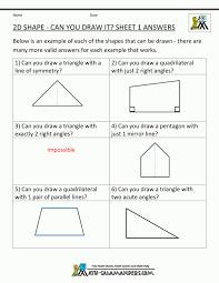 Excel. free worksheets for 3rd graders: Printable Geometry ...