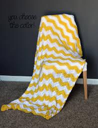 Yellow And White Throw Blanket