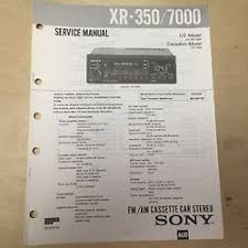 sony xr car stereo buy online sony service manual for the xr 350 7000 cassette player radio car stereo repair