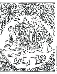 Christmas Nativity Coloring Pages For Adults In Jesus And Page