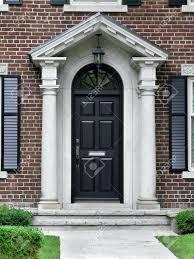 front door portico kitsGlass Front Door Portico Kits Colonial Blue Exterior Inspiration