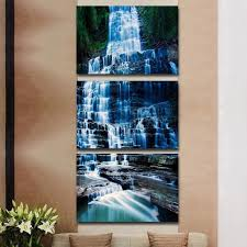 3 piece vertical cascading blue