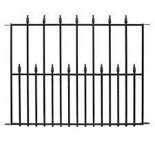 black steel 3 rail fence panel