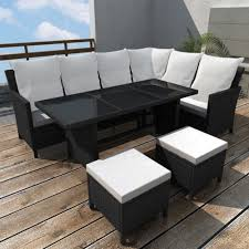 details about 19 pieces garden sofa lounge set poly rattan indoor outdoor patio furniture hot