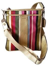 Coach Signature Legacy Stripe Swingpack Crossbody Bag B00Q43ZWN2