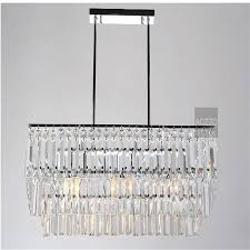 2 ring crystal black iron odeon clear glass rectangular chandelier crystal cahndeliers home decor morden fashion