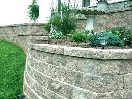 inexpensive retaining wall blocks cost to install on the back of a block block retaining wall