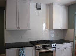 Diy Tile Backsplash Kitchen Diy White Glass Tile Backsplash
