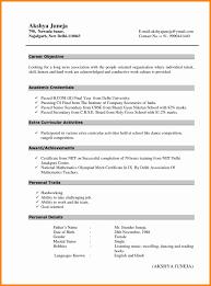 Model Resumeat Fresher Fresh Sample For Freshers Ofats Free Download