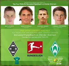 Gladbach on 22 may 2021 in germany: Borussia M Gladbach Vs Werder Bremen Match Prediction 19th January 2021 Real Fantasy Sports India