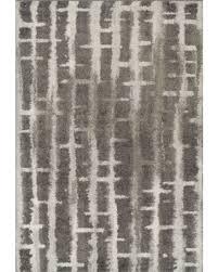 Dalyn Rocco Area Rugs  RC2 Shag U0026 Flokati Charcoal Faded Lines Distressed Grid Rug