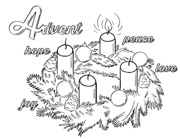 Advent Wreath Coloring Pages Free Advent Printables Only Coloring