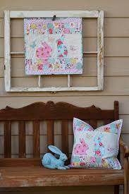 Bunny Mini Quilt and Pillow Featuring EZ Print Sheets &  Adamdwight.com